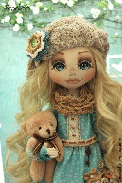 Katty - бирюзовый,кукла,кукла ручной работы,кукла в подарок,кукла текстильная