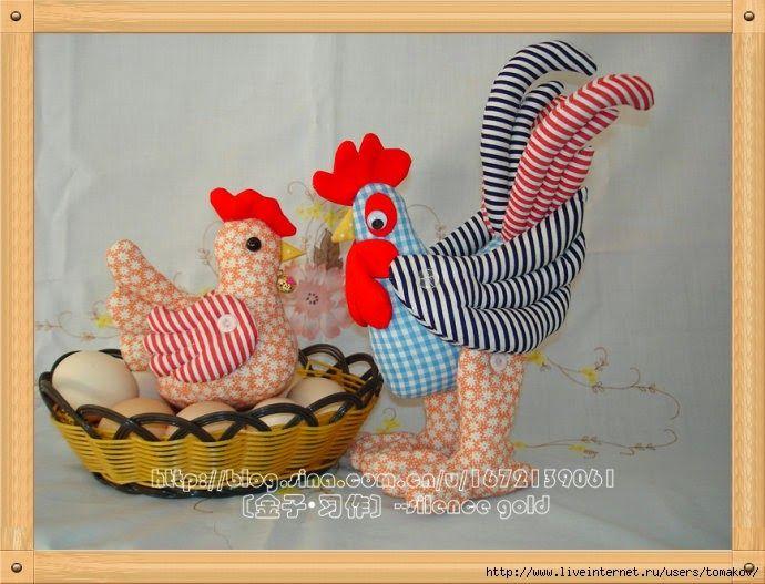 ARTE COM QUIANE - Paps,Moldes,E.V.A,Feltro,Costuras,Fofuchas 3D: familia galo galinha e pintinhos patchwork