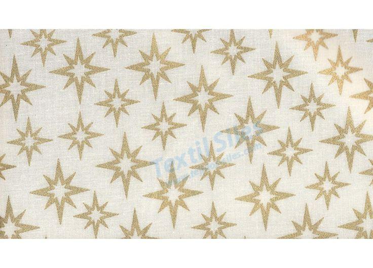 Patchwork Navidad Estrellas Doradas fondo blanco
