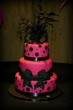 Red & Black wedding Cake