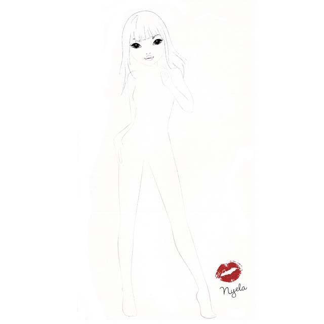 Topmodel biz outline google search top model manken pinterest - Dessin top model ...