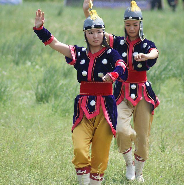Horse dance . Mongolia