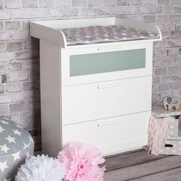 Babymöbel - XS ExtraRund! Wickelaufsatz IKEA Brimnes Kommode - ein Designerstück von PuckDaddy bei DaWanda