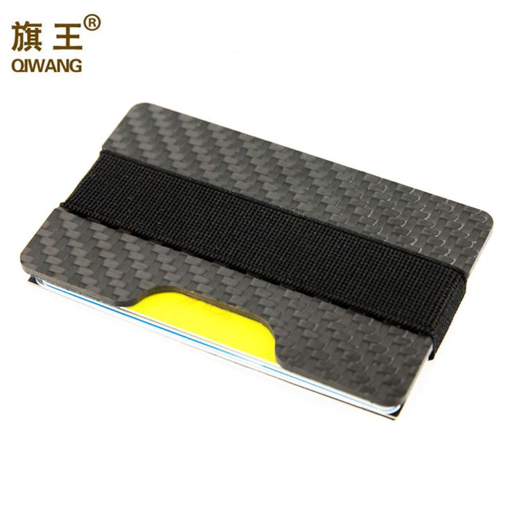 100% Real Carbon Fiber Slim Wallet 3K Carbon Credit Card Holder for Men Luxury  Hard like steel,another one can open the bottle of bear