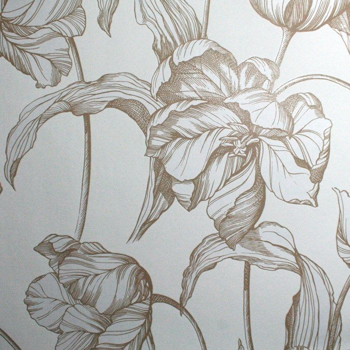 Harem Tulips Wallpaper by Laurence Llewelyn-Bowen - Cream Floral Wall Coverings by Graham  Brown