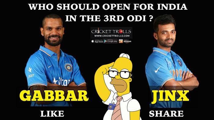 Shikhar Dhawan or Ajinkya Rahane - The better choice for the last ODI against England #INDvENG #3rdODI For more cricket fun click: http://ift.tt/2gY9BIZ - http://ift.tt/1ZZ3e4d