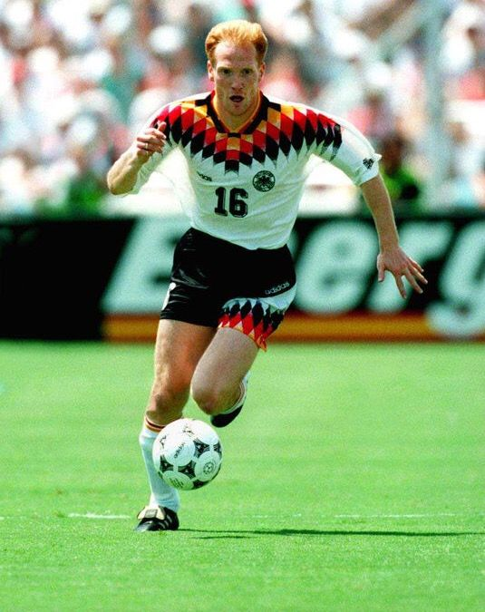 Matthias Sammer of Germany in action at the 1994 World Cup Finals.