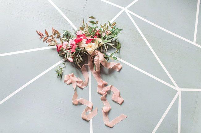 geometric design bouquet