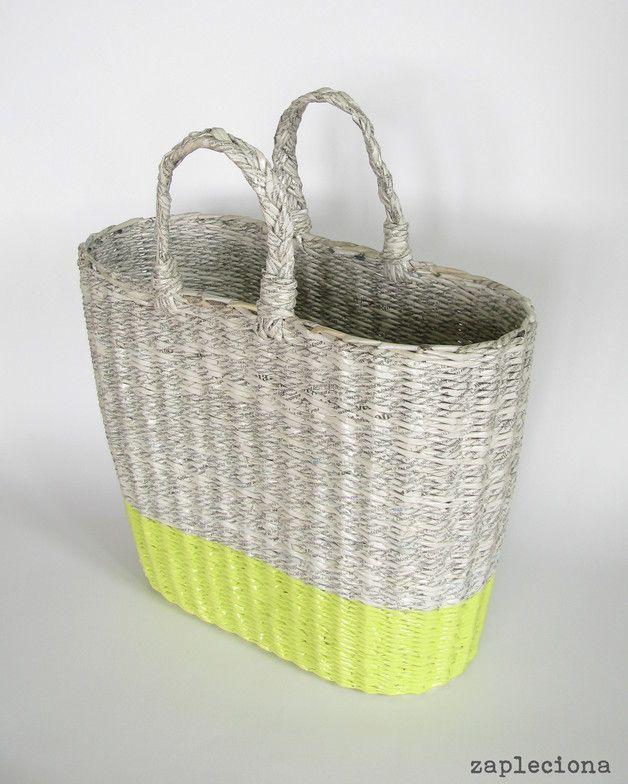 Koszyk/Torba na zakupy GrayGreen - zapleciona - Torby plecione