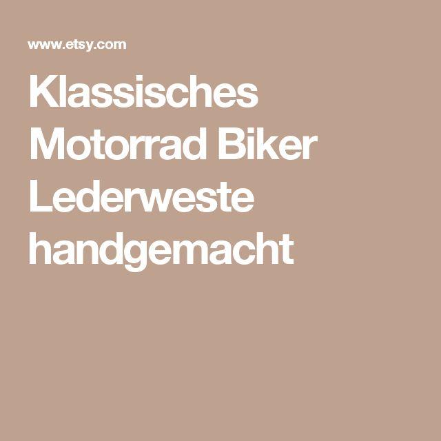 Klassisches Motorrad Biker Lederweste handgemacht