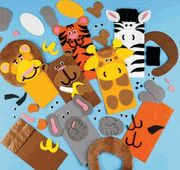 Circus Zoo Animals Paper Bag Puppet Craft #12 $11.49 -- This could be also an easy DIY with construction paper, crayons, etc.