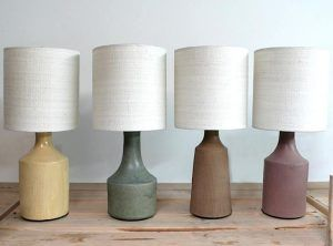 Los Angeles–based potter Victoria Morris is known for her tableware—large serving bowls in speckled, earthy brown and lavender glazes—in a style somewhere between California craftsman and countryside Japanese. We recently took note of her lamps,