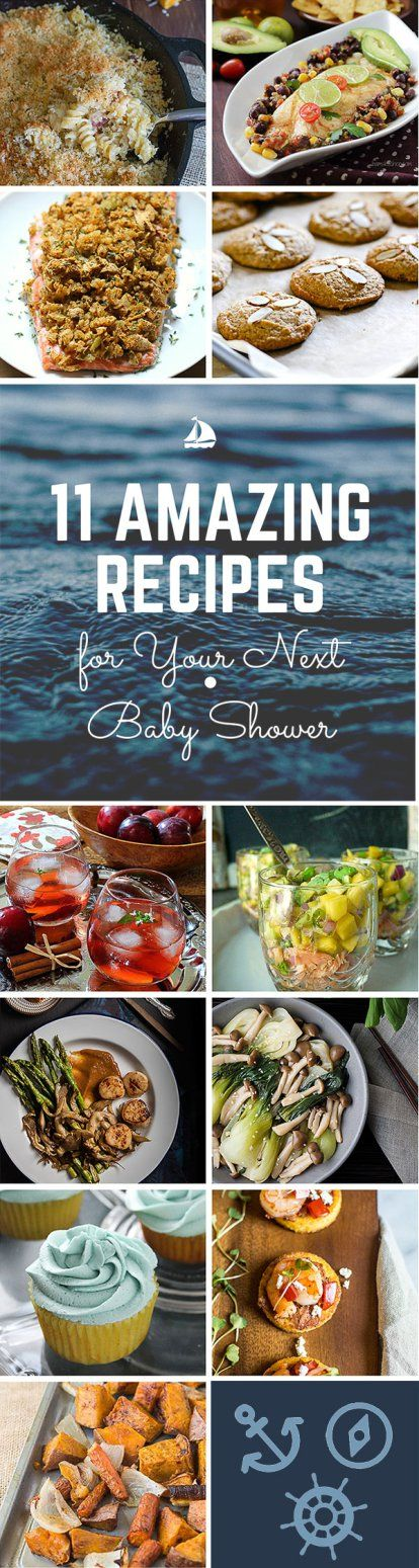 A recipe round-up for a Virtual Baby Shower.