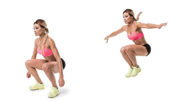 Effective Bodyweight Leg Exercises - Squat jumps