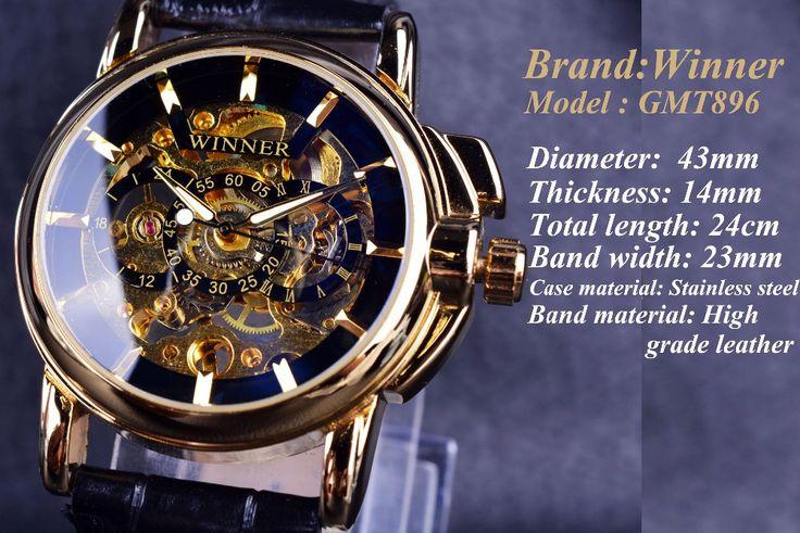 Winner Navigator Series Luxury Skeleton Mechanical Watch For Men - Online Shopping for Watches