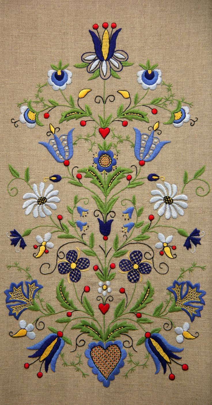 Embroidery - have a tablecloth (on white background) with this design.   Poland