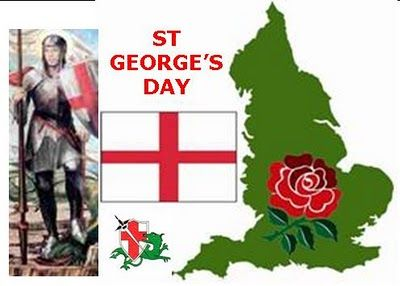 St. George is the patron saint of England. His emblem, a red cross on a white background, is the flag of England, and part of the British flag. St George's emblem was adopted by Richard The Lion Heart and brought to England in the 12th century. The king's soldiers wore it on their tunics to avoid confusion in battle.