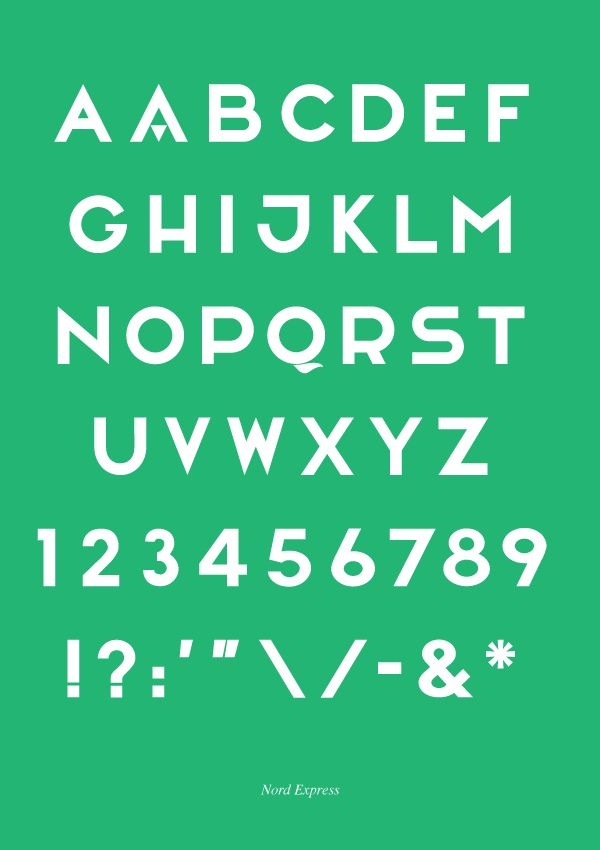 Angus MacPherson / Nord Express — #Typeface #Typography