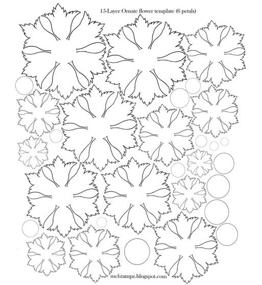 15 layer flower template