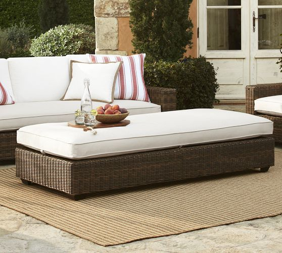 Torrey-All-Weather Wicker Coffee Table Ottoman