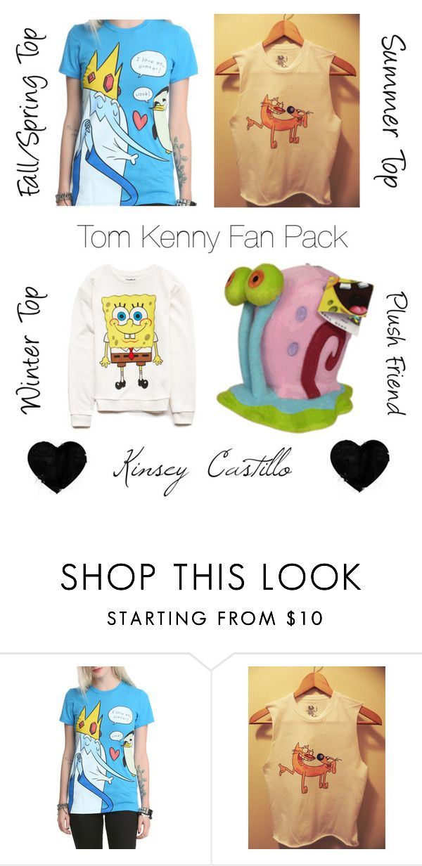 """""""Voice Actor Fan Set: Tom Kenny"""" by kinseycastillo ❤ liked on Polyvore featuring Forever 21"""