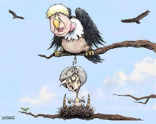 Boris Johnson encapsulates everything that is tragic about our sorry national state today. Picture: Gary Barker
