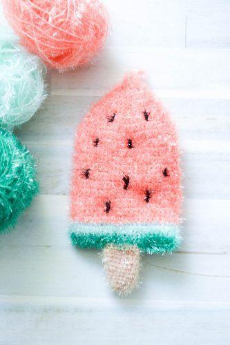 Melonen Popsicles Schwamm Häckeln Pinterest Häkeln Häkeln