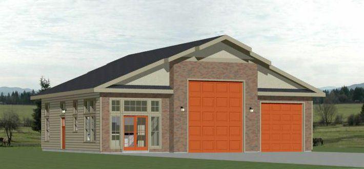 PDF Floor Plan 1,776 sq ft 50x40 2-RV Garage Model 1A