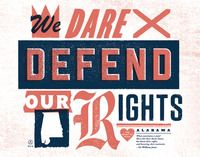 50 and 50 project: state mottos from local designers.