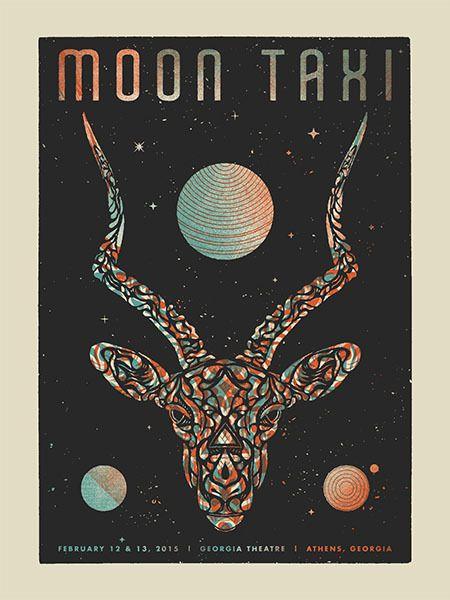 Moon Taxi. Poster design: Modern Giant Design (2015).