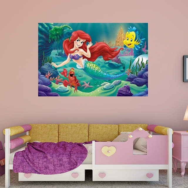 The little mermaid mural disney mermaids and the o 39 jays for Disney ariel wall mural