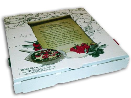 Generic Print History Pizza Boxes Brisbane