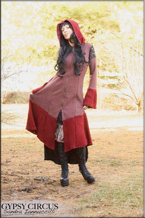 Hooded Bohemian Gypsy Jacket  Steampunk Fashion  by GypsyCircus