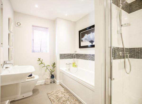 Bathroom @ Westgate in Wareham by Bloor Homes