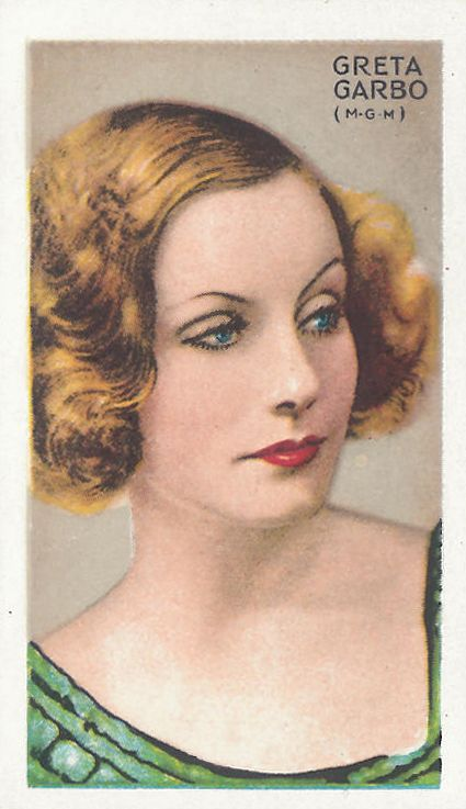 Greta Garbo, 1934; cigarette card Gallaher