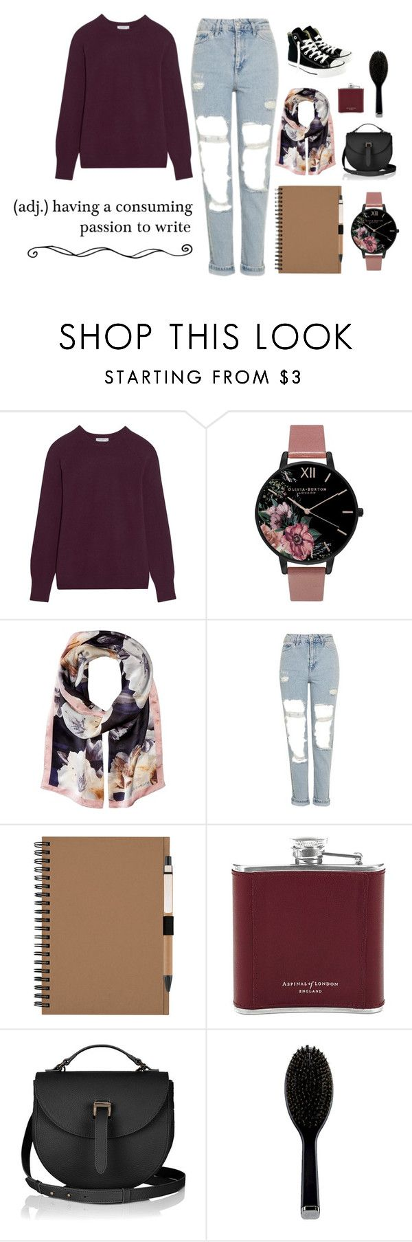 """""""SCRIPTURIENT"""" by ca-nunn on Polyvore featuring moda, Equipment, Olivia Burton, Vince Camuto, Topshop, Aspinal of London, GHD e Converse"""