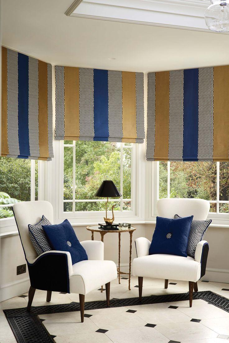 Serondole Stripe fabric - Lorca at @osbornelittle - available from Rodgers of York #fabric #lounge