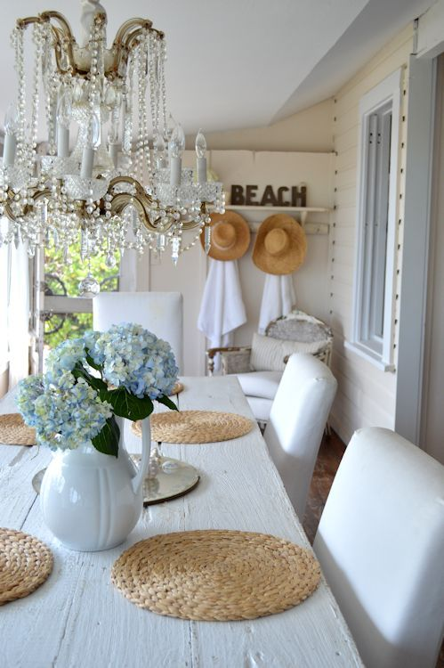 where will we sit for dinner- where would we put a table to put buffet out- in covered porch area? Beach House, Susie Holt..