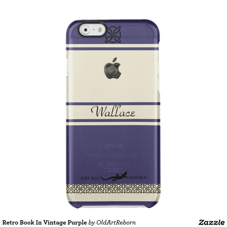 Retro Book In Vintage Purple Clear iPhone 6/6S Case