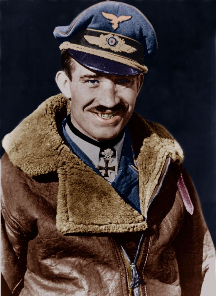 "Adolf ""Dolfo"" Joseph Ferdinand Galland (19 March 1912 – 9 February 1996) was a German Luftwaffe General and flying ace who served throughout World War II in Europe. A flying ace or fighter ace is a military aviator credited with shooting down five or more enemy aircraft during aerial combat. He flew 705 combat missions, and fought on the Western and the Defence of the Reich fronts. He was credited with 104 aerial victories, all of them against the Western Allies."