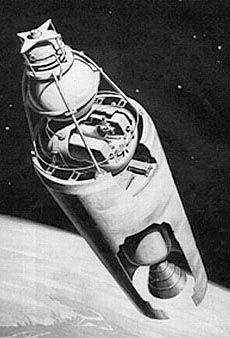 Illustration of Sputnik-2 in Orbit
