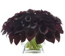 black calla lily arrangement - want - the darker the better