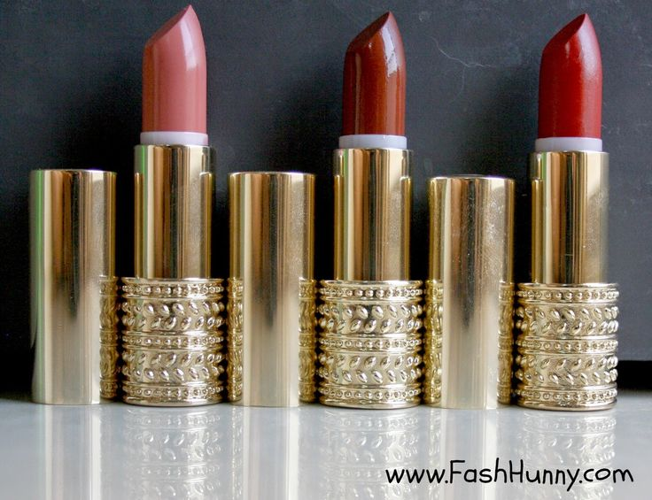 Review : Oriflame's Giordani Gold Jewel Lipstick in Dusky Nude, Honey Chestnut and Eternal Red