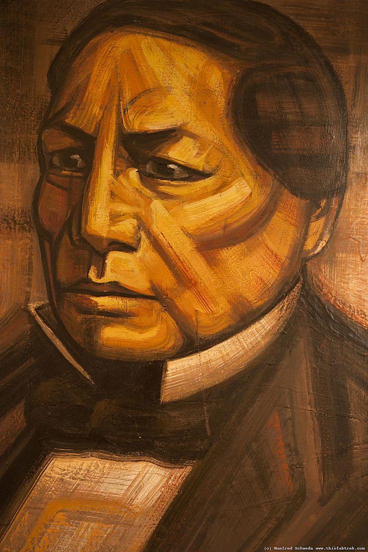 Benito Juárez por David Alfaro Siqueiros, Palacio Nacional, Centro Histórico de la Ciudad de México