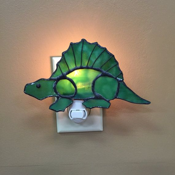 Stained Glass Dinosaur Night Light