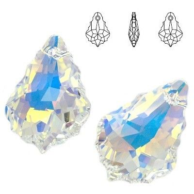 6090 Baroque 16mm Crystal AB  Dimensions: 16,0 mm Colour: Crystal AB 1 package = 1 piece