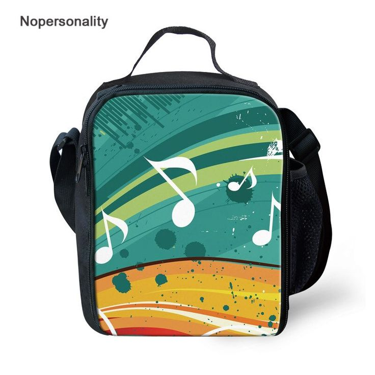 Nopersonality music printing lunch bag for women student
