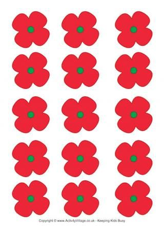 Poppies Printable