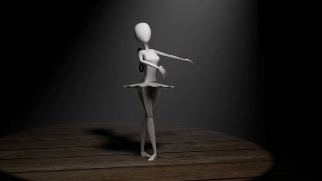 Ballerina Dancing to Music box music. Animated by myself in Maya. Rig created by Joe Daniels.