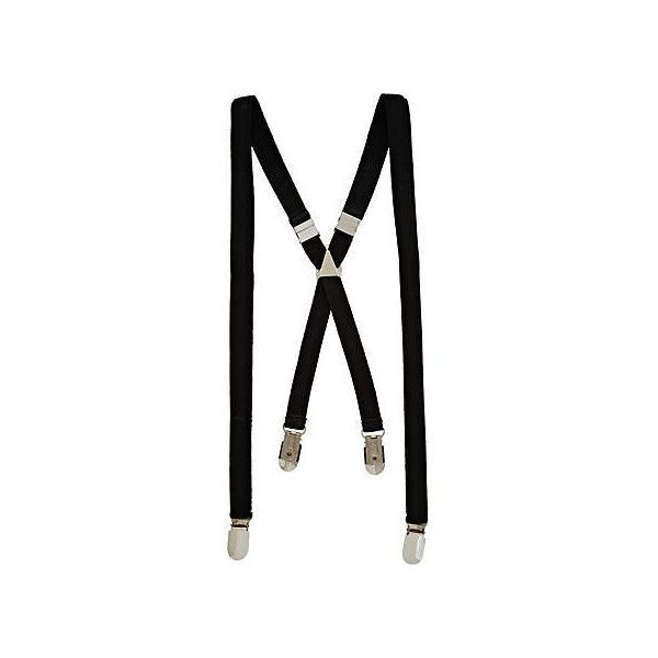 River Island Black braces ($12) ❤ liked on Polyvore featuring mens, men's accessories, suspenders, accessories, belts и jewelry